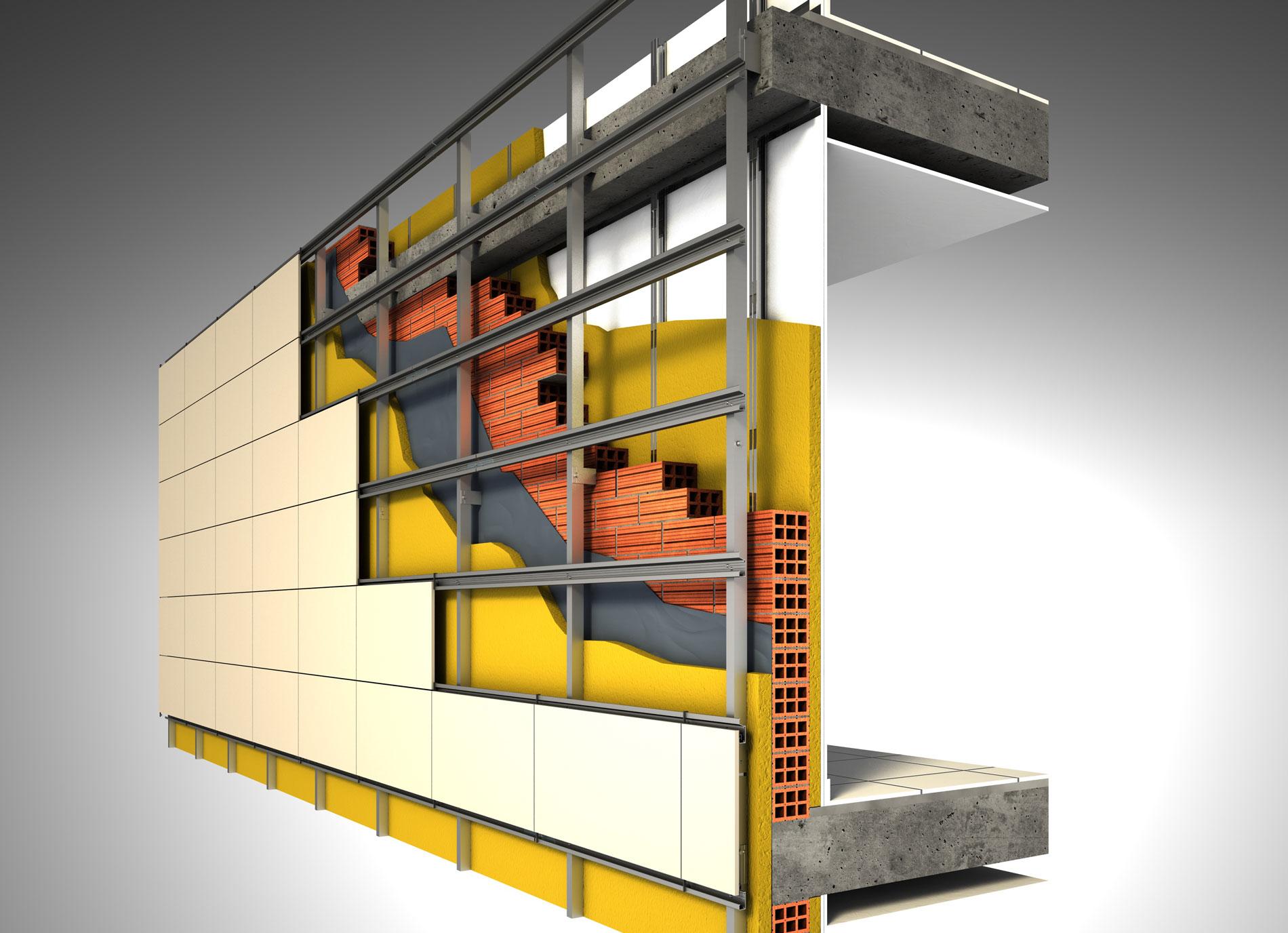 Fachada ventilada barata materiales de construcci n para - Materiales de construccion baratos ...